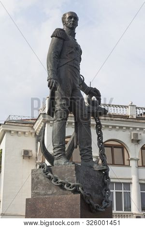 Sevastopol, Crimea, Russia - July 24, 2019: Monument To Admiral Dmitry Nikolaevich Senyavin In The H