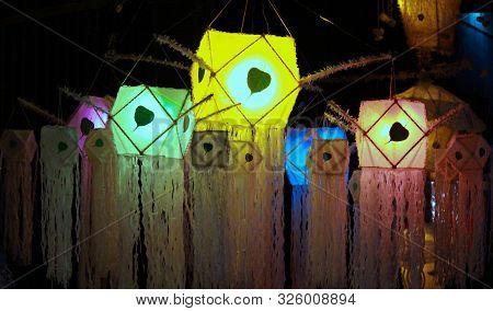 Colourful Sri Lankan Vesak Lanterns During Vesak Holidays. Vesak Is Celebrated By Buddhists During M