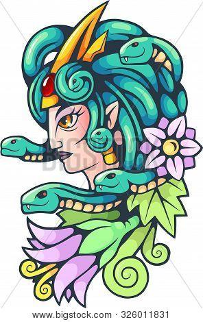 Ancient Greek Mythological Character, Medusa Gorgon, Illustration, Design