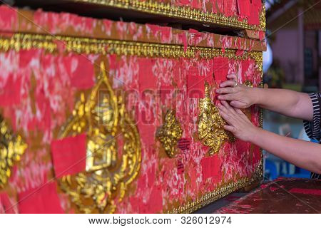 Coffin Donation (donate A Coffin) At Thai Temple