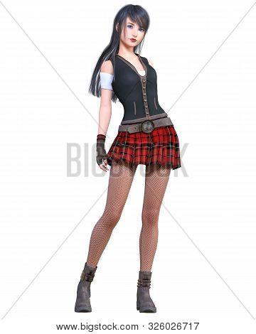 Woman In School Uniform.