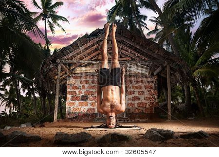 Yoga Head Stand Without Hands