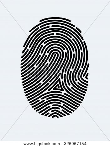 Fingerprint Icon. Cyber Security Concept. Digital Security Authentication Concept. Biometric Authori