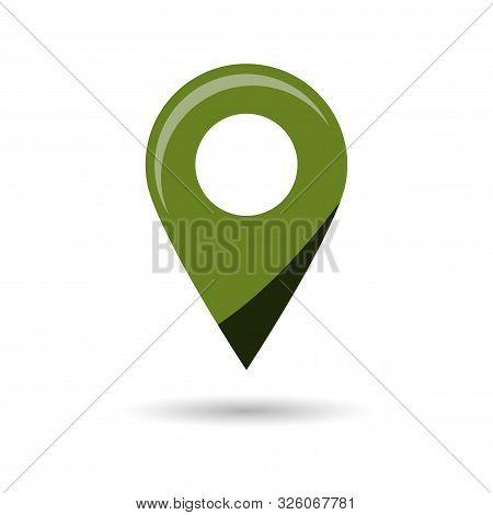 Black Gps Navigator Point Pin Map Flat Icon