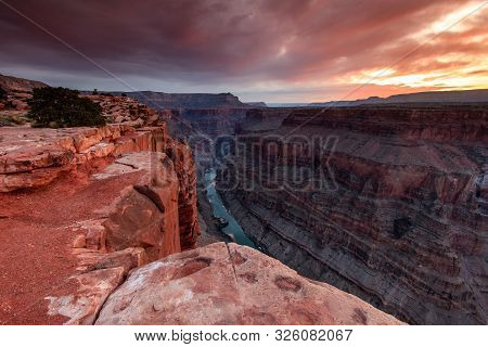 Raw Beauty Of The Grand Canyon With Colorado River
