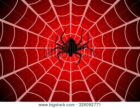 Spider Web. Cobweb Trap, Gossamer Halloween Graphic Silhouette. Spider Man Funny Spooky Party Net Te