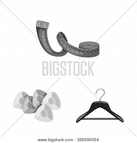 Isolated Object Of Dressmaking And Textile Sign. Set Of Dressmaking And Handcraft Stock Vector Illus
