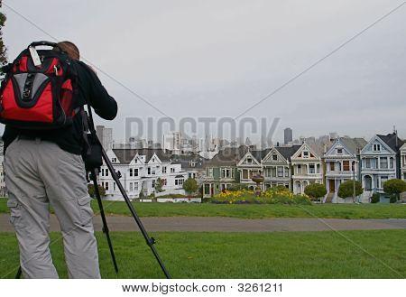 Photographer At Alamo Square