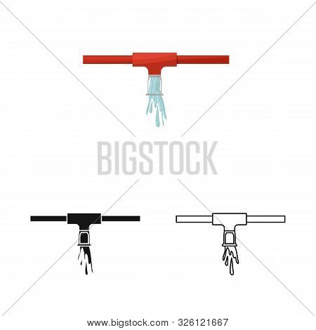 Isolated Object Of System And Sprinkler Icon. Set Of System And Suppression Vector Icon For Stock.