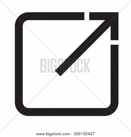 Open In New Window Icon On White Background. Flat Style. Open Another Tab Button For Your Web Site D