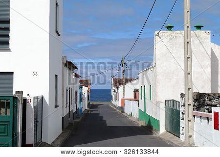Streets Of Mosteiros, São Miguel Island, Azores Portugal