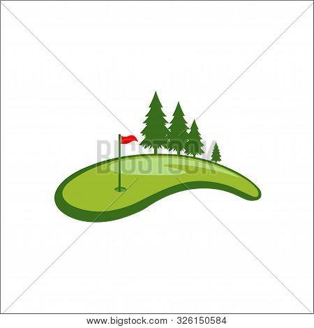 Field Golf Logo Vector Template,logo Golf ,logo Field Golf