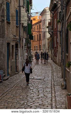 Streets Of Old Town Of Rovigno