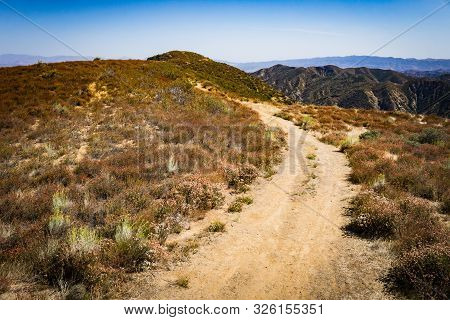 Dirt Road In Southern California Hills