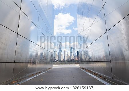 Jersey City, United States Of America - September 24, 2019: The Empty Sky Memorial, The Official New