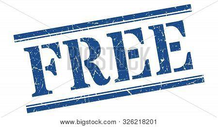 Free Stamp. Free Square Grunge Sign. Free