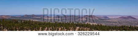 Colorful Panorama View Of Mountains And Valleys