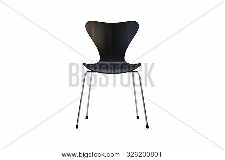 Modern Chair With Metal Legs. 3D Render