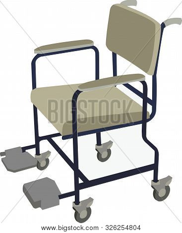Hospital Chair For An Infirm Patient Hospital Chair For An Infirm Patient