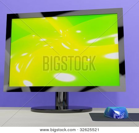 TV Monitor Representing High Definition Television Or HDTV