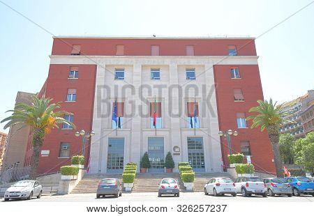 Rome Italy - June 16, 2019: Cnr National Research Council Office Building In Rome Italy