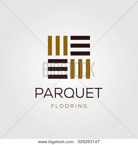 Minimalist Parquet Flooring Vinyl Hardwood Granite Tile Logo