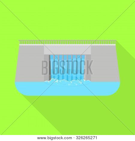 Vector Design Of Hydro And Station Logo. Set Of Hydro And Dam Vector Icon For Stock.