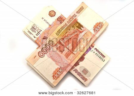 5000 Rubles On Stack.