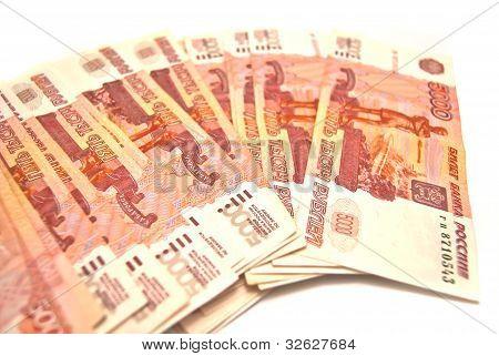 Many 5000 Banknotes