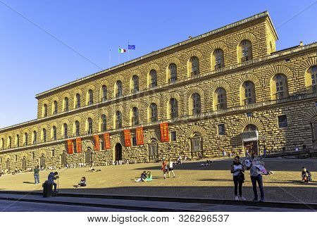 Florence, Tuscany, Italy - September 20: Palazzo Pitti Or Pitti Palace On September 20, 2019 In Flor