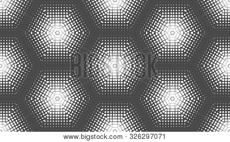 Abstract Seamless Geometric Pattern. A Fading Array Of Many Shapes.