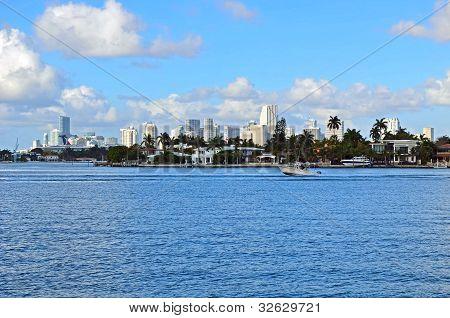 Dilido Island and Downtown Miami Skyline