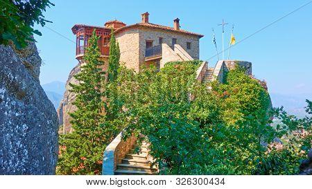 The Monastery of Rousanou (St. Barbara) in Meteora, Kalabaka, Greece
