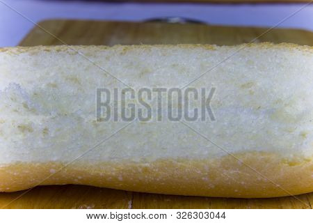 Baguette Cut In Half, Baguette Bread, French Bread, Organic Baguette Francese