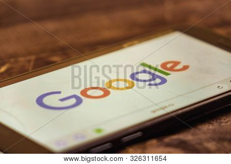 Voronezh. Russian Federation - May 3, 2019: Google Logo On Smartphone Screen. Google Is An American