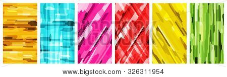Abstract Color Set Template For Instagram Stories. Blank Template Abstract Background For Story In Y