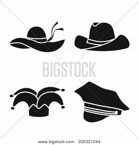 Vector Illustration Of Beanie And Beret Icon. Collection Of Beanie And Napper Stock Vector Illustrat