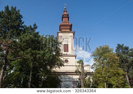 Serbian Orthodox Church Of Uljma, A 19th Century Old Austro Hungarian Style Church, With Its Typical