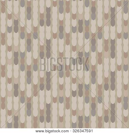 Hand Drawn Marble Broken Vertical Stripe Seamless Pattern. Modern Lines, Hand Drawn In Brown, Gray,