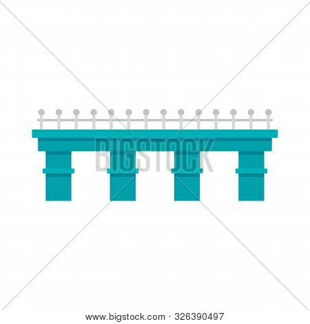 Metal Bridge Icon. Flat Illustration Of Metal Bridge Vector Icon For Web Design