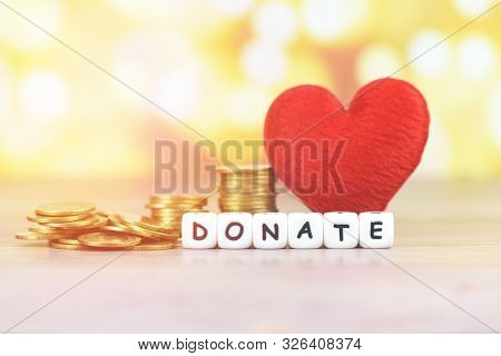 Money Saving With Red Heart For Donate And Philanthropy / Health Care Love Organ Donation Family Ins
