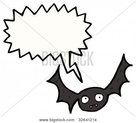 cartoon flying vampire bat poster