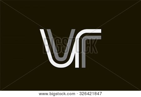 Black And White Line Vr V R Letter Logo Alphabet Combination For Icon Design. For A Logotype On A Co