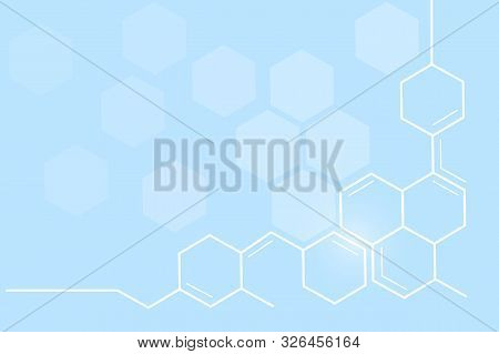 Abstract Geometric Shape Medicine And Science Concept Background.