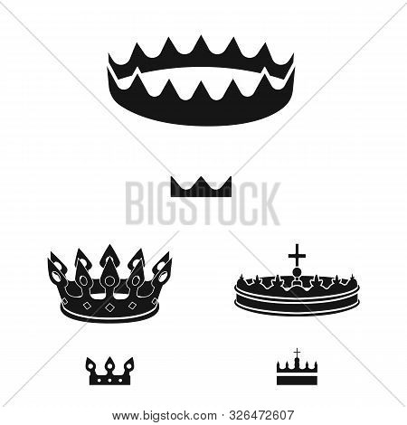 Vector Design Of King And Majestic Icon. Collection Of King And Gold Stock Symbol For Web.