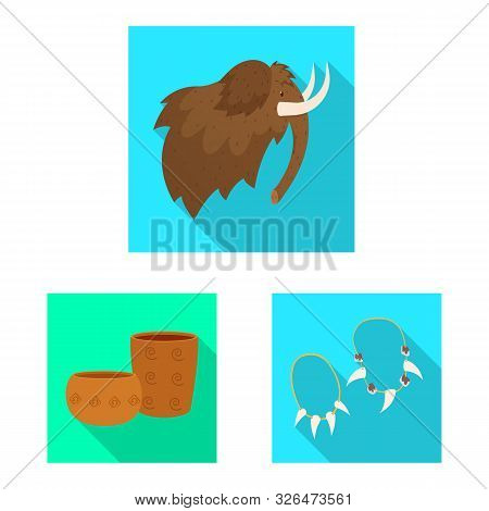 Isolated Object Of Evolution And Neolithic Symbol. Collection Of Evolution And Primeval Stock Symbol