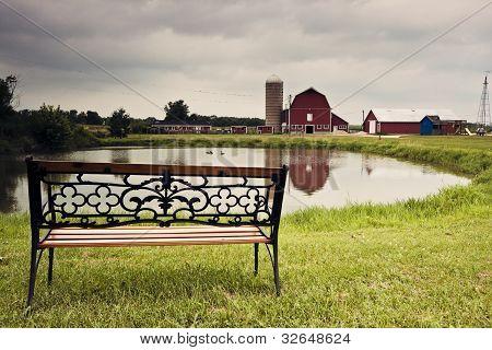 Farm And Lake