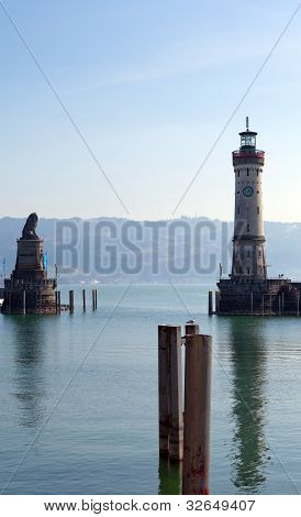 In the port of Lindau at Bodensee