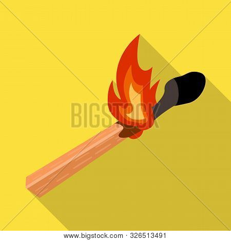 Vector Illustration Of Matchstick And Match Symbol. Web Element Of Matchstick And Fire Stock Vector