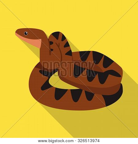 Vector Illustration Of Python And Serpent Sign. Graphic Of Python And Crawling Stock Symbol For Web.